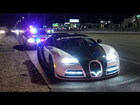 NEVADA STATE POLICE PULLOVER BUGATTI FOR 200 MPH HIGHWAY PULL