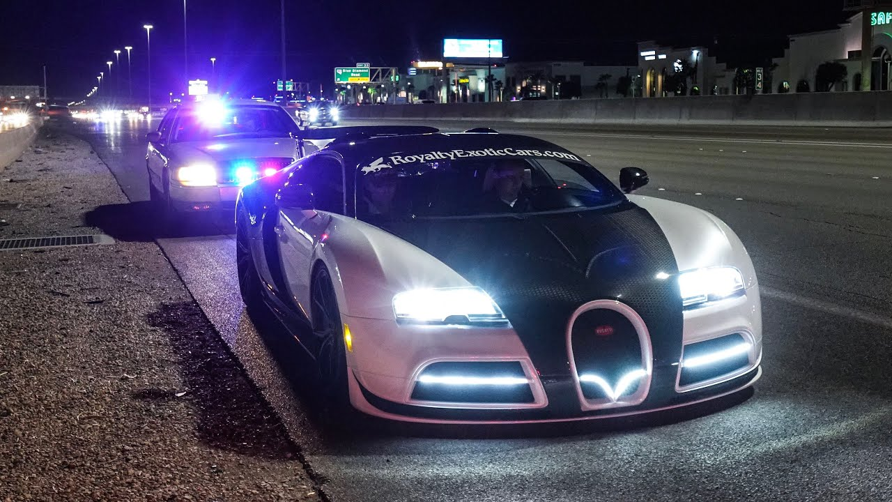 BUGATTI PULLED OVER BY NEVADA STATE POLICE FOR 200 MPH HIGHWAY PULL ...