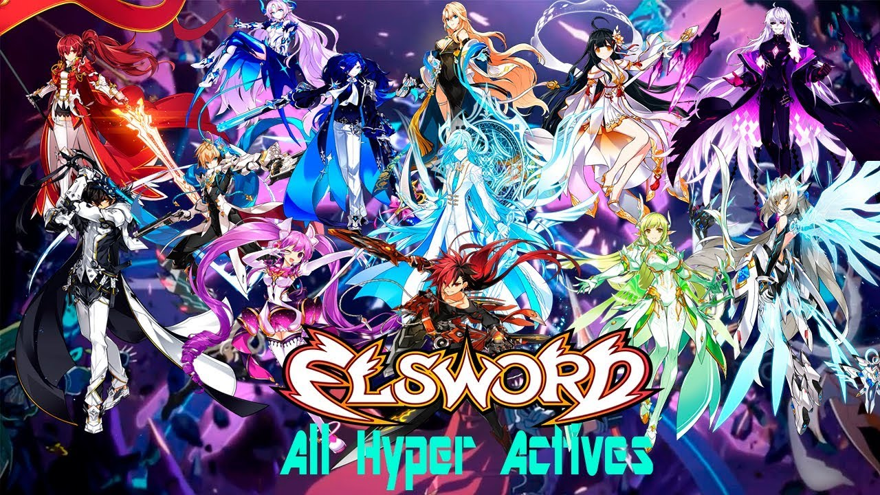 Elsword All Hyper Actives 3rd Job 모든 하이퍼 액티브 3 작업 Youtube