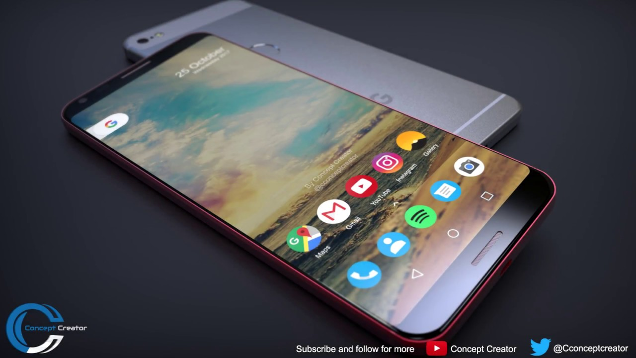 Image result for Gorgeous Pixel XL 2 concept envisions less rear glass, more LG styling