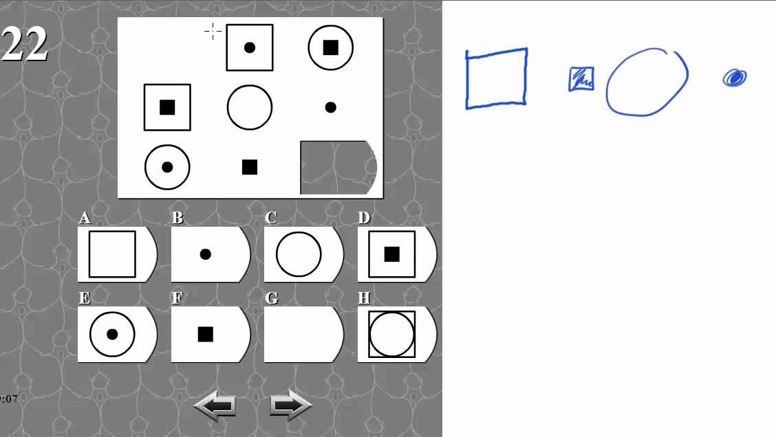 IQ TEST matrix 22 SOLVED AND EXPLAINED