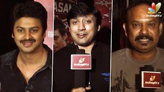 Venkat Prabhu, Prashanth and Srikanth at Saahasam Premiere