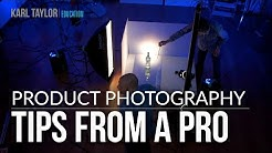 Professional product photography tutorial on clear bottle and reflective surfaces by Karl Taylor