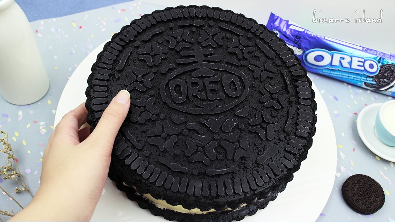 DIY-GIANT-OREO !! NO-BAKE-Oreo-Cheesecake-Recipe