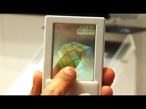 Transparent dual-touch display Android smartphone prototype #DigInfo