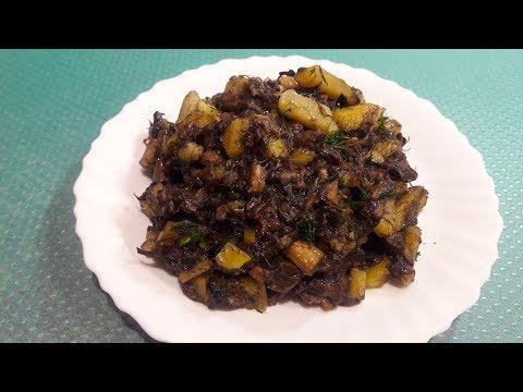 Жареные белые грибы с картошкой