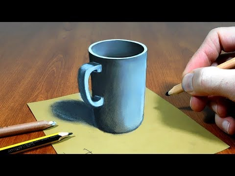 3D Trick Art on Paper   Mug   Sonhos com Dimensão