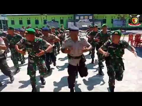 YEL-YEL TNI-POLRI SATGAS PAMTAS YONIF 743/PSY