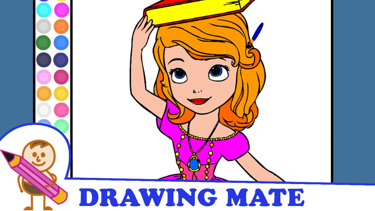 sofia the first coloring pages colouring book kolorowanki
