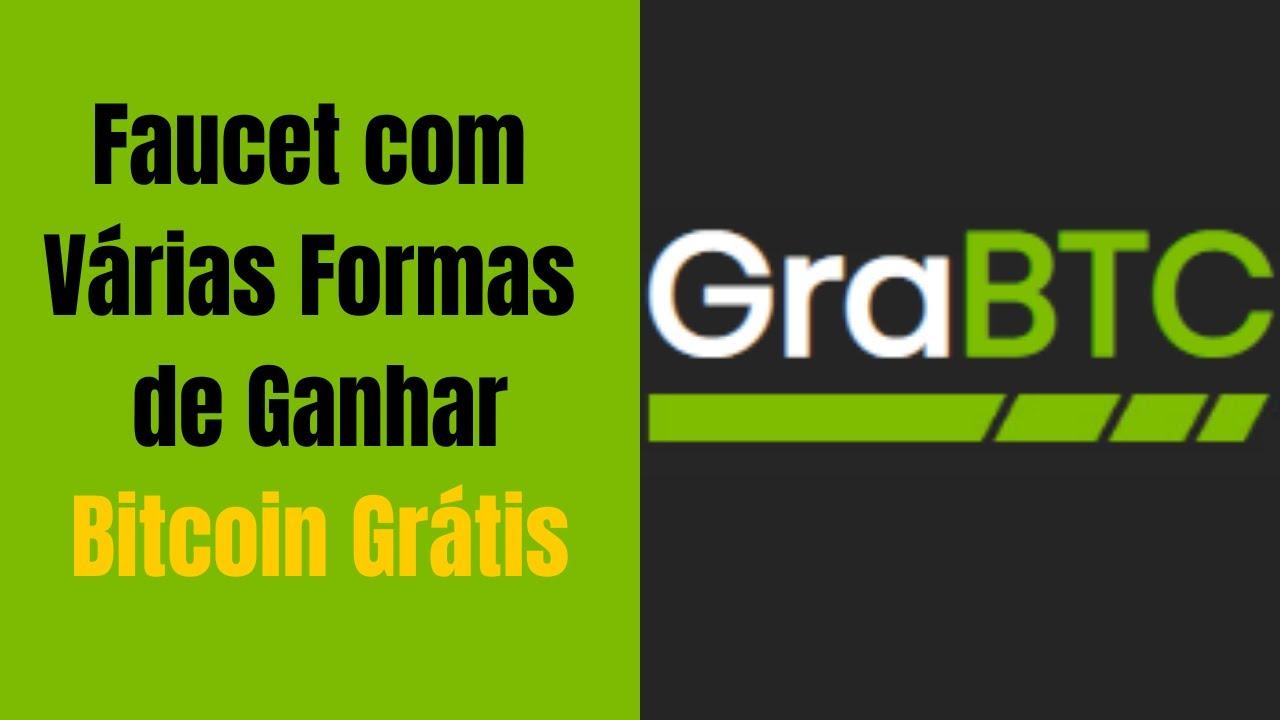 GraBTC Faucet com Várias Formas de Ganhar Bitcoin Grátis