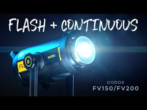 Godox FV150 & FV200 Review   FLASH + CONTINUOUS LED VIDEO LIGHT in One?
