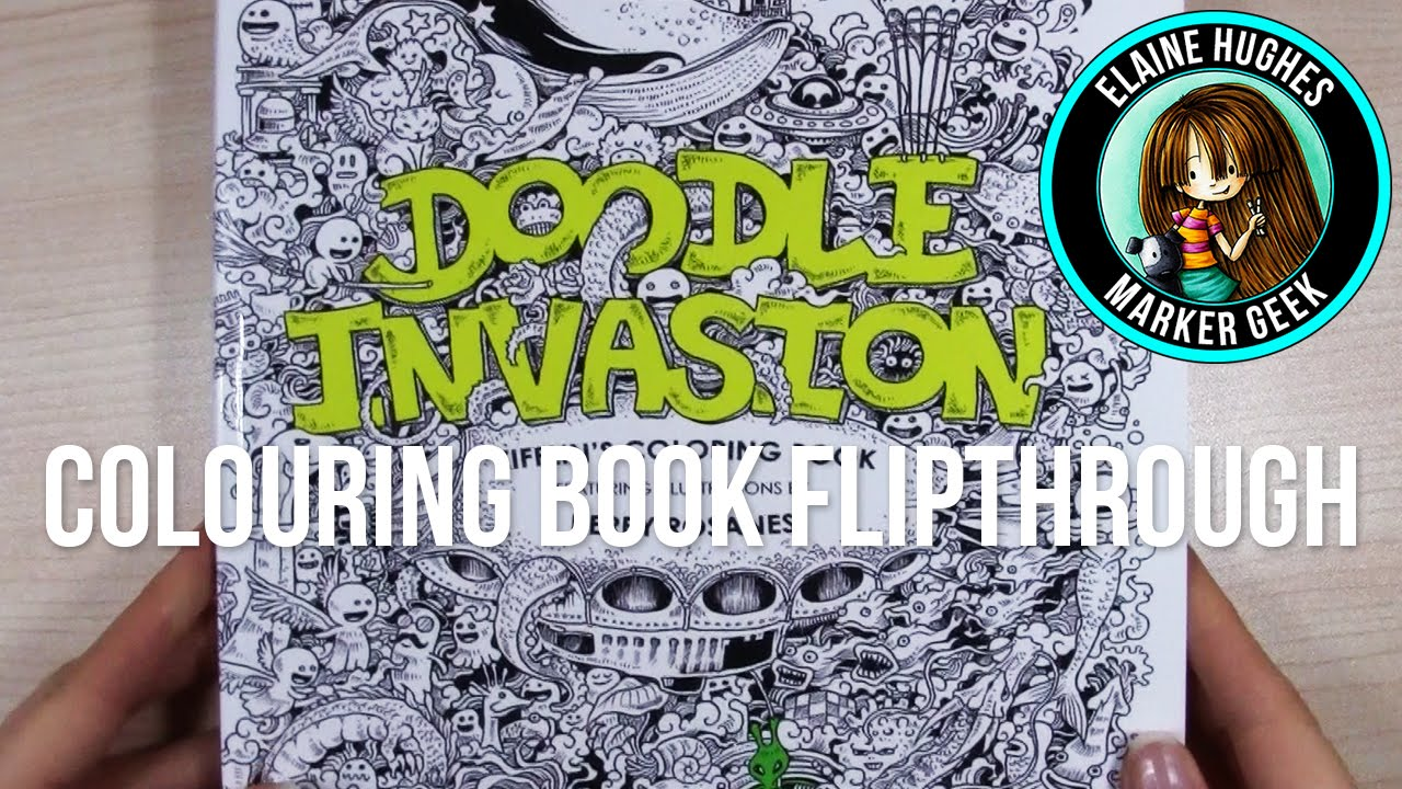 Doodle Invasion Colouring Book Flipthrough