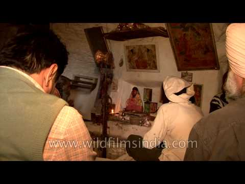 Tiny Hindu cave temple in Gwalior, Madhya Pradesh