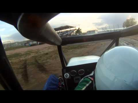 Clint Schubert 44 midget win El Paso County Speedway 2011