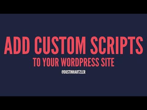 Properly add Javascript Files to WordPress