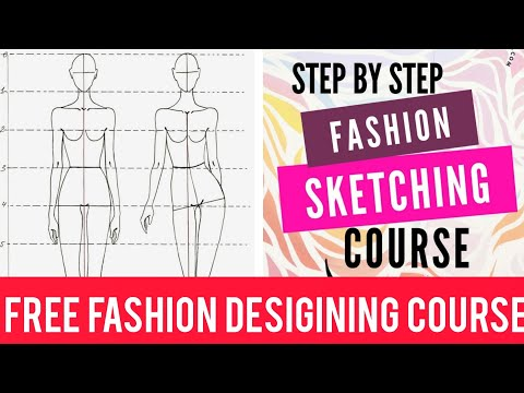 Online Fashion Designing Class At Home How To Make Stick Figure Youtube
