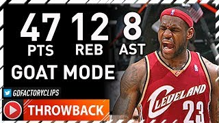 Throwback: LeBron James GOAT MODE Game 3 Highlights vs Hawks (2009 Playoffs) - 47 Pts, 12 Reb, 8 Ast