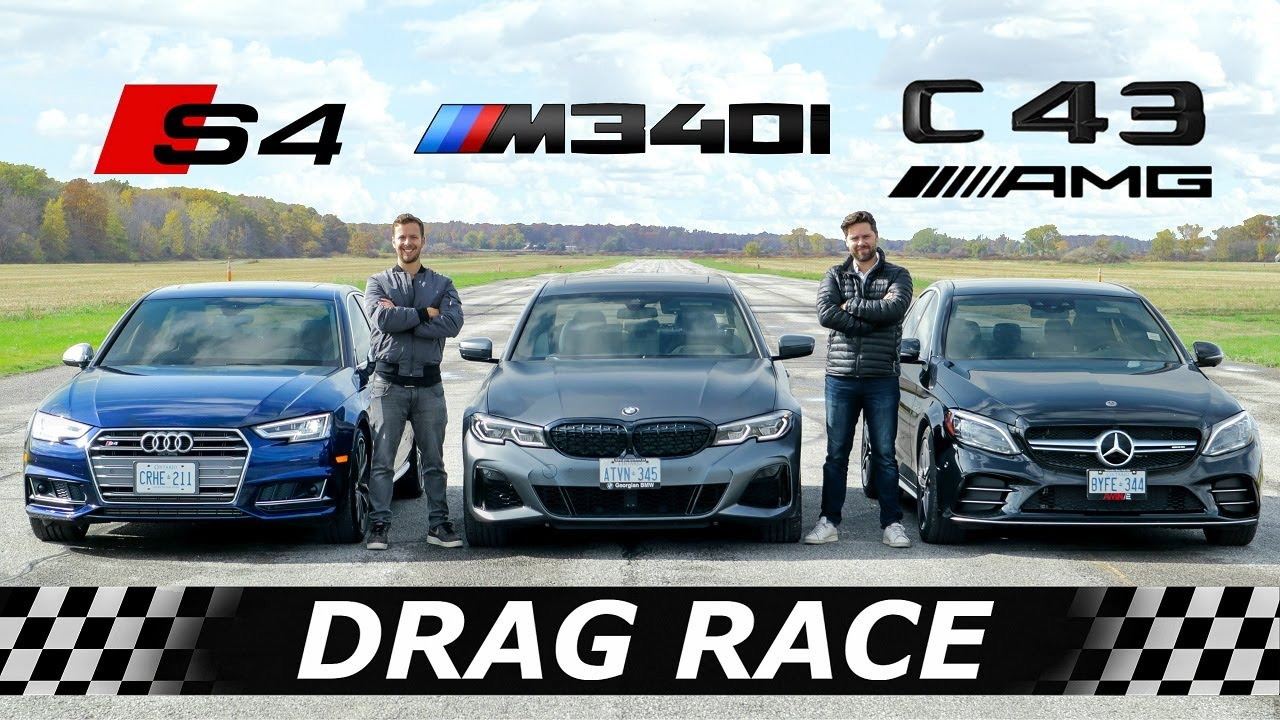 Download 2020 BMW M340i vs Audi S4 vs Mercedes-AMG C43 // DRAG & ROLL RACE