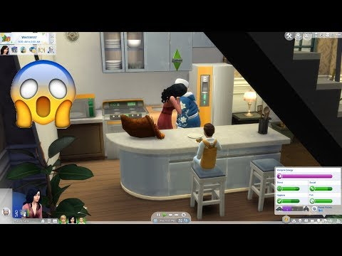 My Sim Drink Blood From Santa Clause!! -Sims 4-