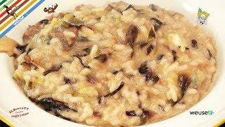 103 - Risotto radicchio rosso e gorgonzola...tutti presi per la gola!(primo piatto facile e gustoso)