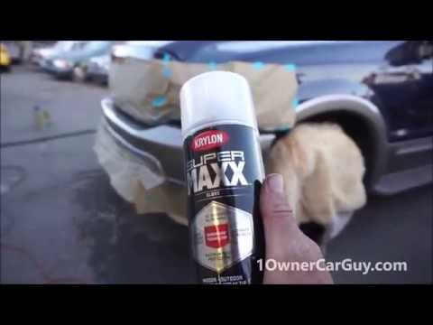 How To Fix Bumper Paint Chips Dents Dupli-Color Perfect Match Paint Video