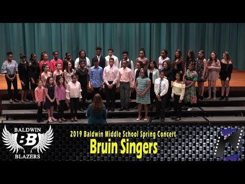 Bruin Singers  @ Baldwin Middle School Spring Concert (2019)