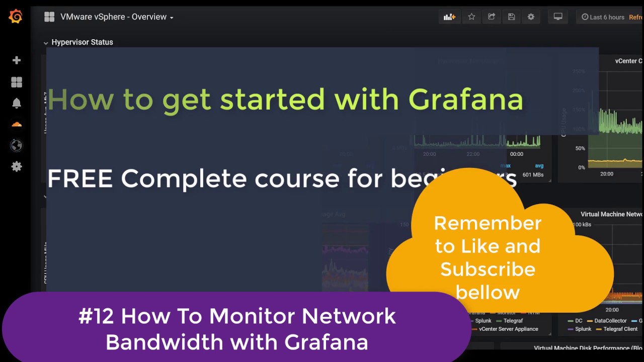 #12 Grafana Monitoring | FREE Beginner course | Create Network Bandwidth  Graphs