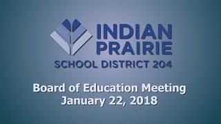 School Board Meeting: 01/22/2018