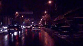 Conducere noapte in localitati iarna, partea 1