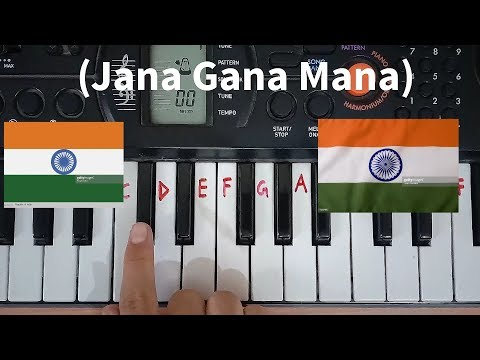 Jana gana mana easy piano tutorial.