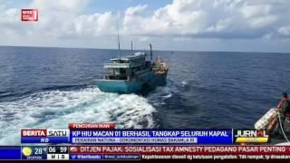 Inilah Aksi Pengejaran Kapal Asing Pencuri Ikan Perairan Natuna