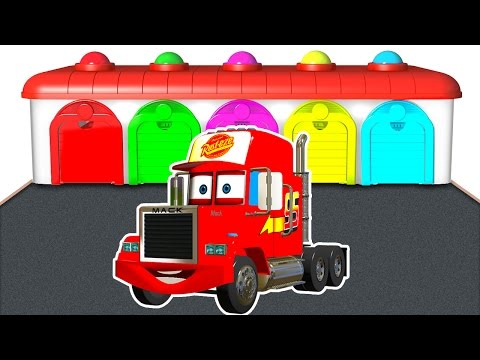 Thumbnail: Mack Truck for Children - Learn Colors and Nursery Rhymes - Kids Learning Educational Video