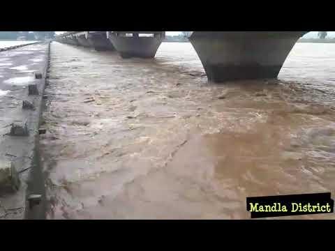 Flood  मंडला #Mandla Zila district Madhya Pradesh India #Narmada River