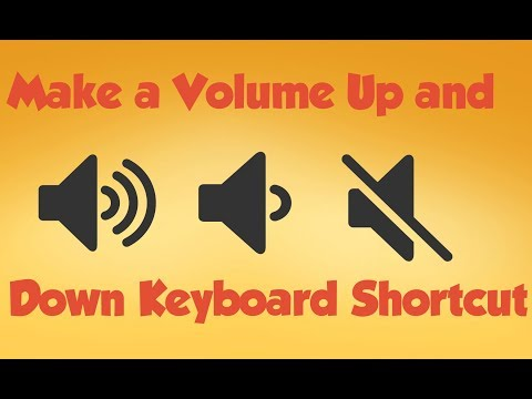 How to Create Keyboard Shortcuts for Volume Up/Down 2019 TrickyTorials