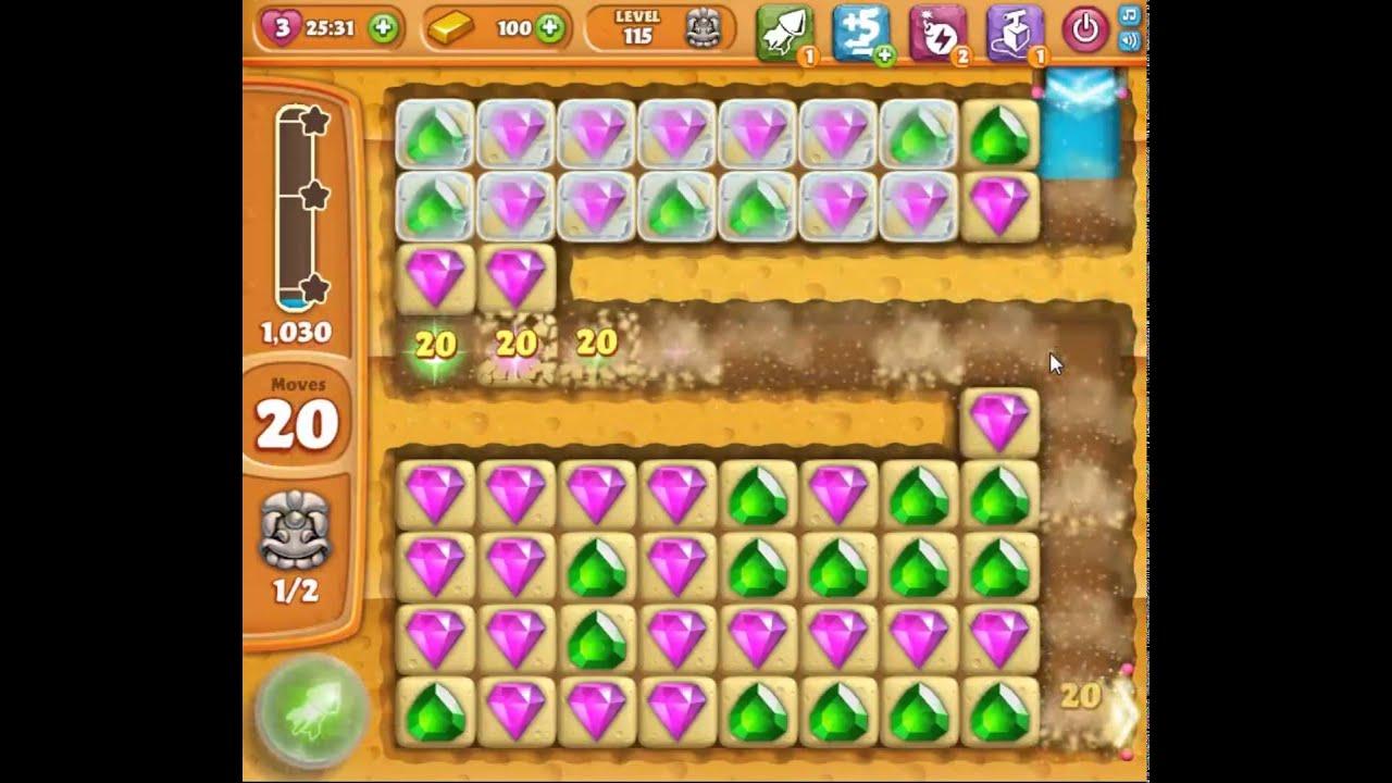 Walkthrough Level 115 - Diamond Digger Saga Video