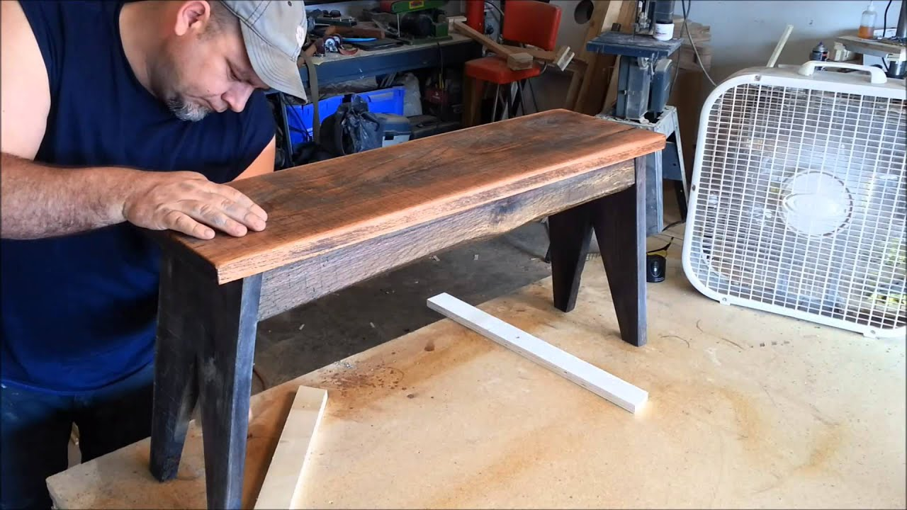 Easy wood finishing rustic style youtube for How to finish a wood slab
