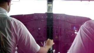 Pouso em Fortaleza - cabine B737-300