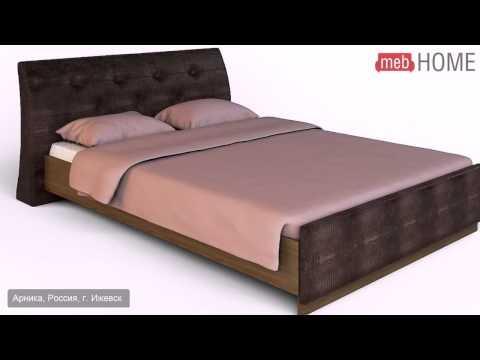 Кровать двуспальная Арника Сорбонна СБ-15 (160)