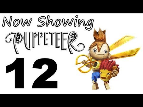 Puppeteer - PS3 Let's Play Part 12 - 1080P - Act 4 - Curtain 3 - Bull Ring!