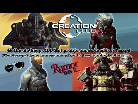 Bethesda keeps 100% of profits made after a mod is released on the Creation Club!?