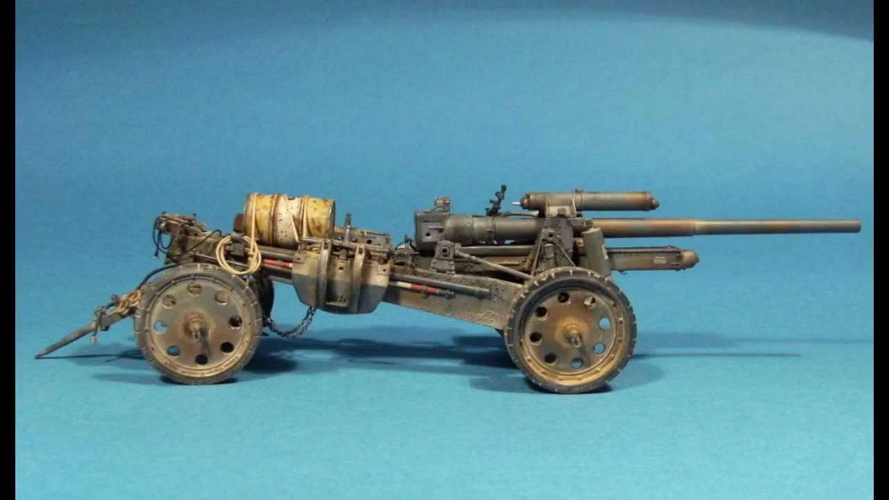 10 5 cm schwere kanone 18 trumpeter youtube. Black Bedroom Furniture Sets. Home Design Ideas