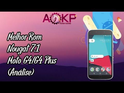 MOTO G4/G4PLUS REVIEW DA ROM AOKP NOUGAT 7.1 (FUNCIONANDO TUDO)