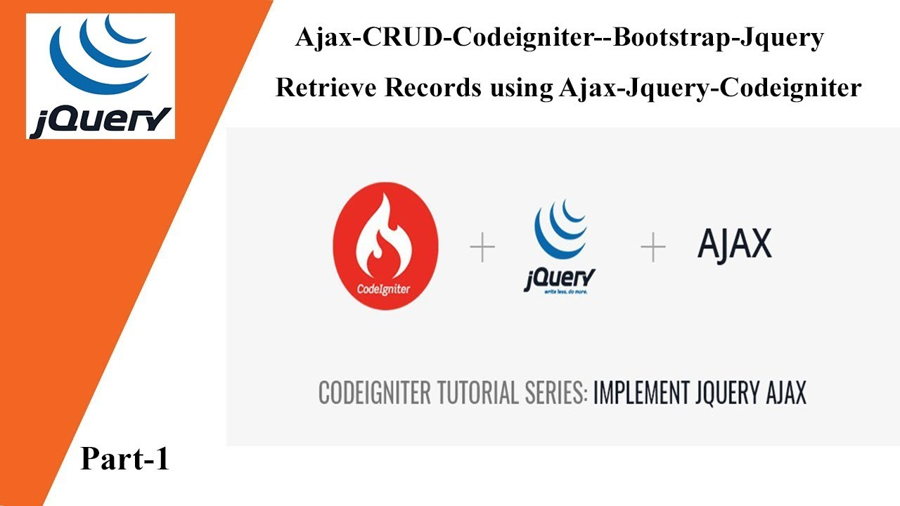 Ajax-CRUD-Codeigniter--Bootstrap-Jquery 💡 Retrieve Records using  Ajax-Jquery-Codeigniter