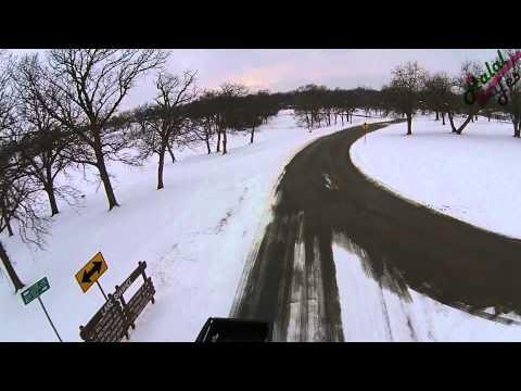 Lake Shawnee Topeka Aerial Video - during Snow   Part 1