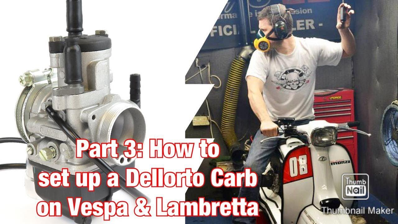 Part 3: How to set-up a Dellorto PHBH carburettor on almost every Lambretta & Vespa scooter!