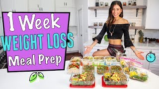 1 WEEK VEGAN WEIGHT LOSS MEAL PREP in 1 hr.