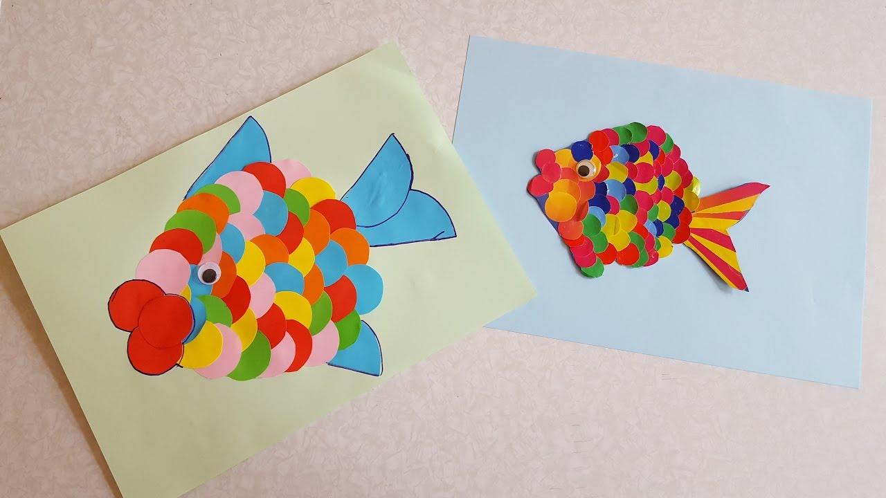 Рыбка из цветной бумаги своими руками