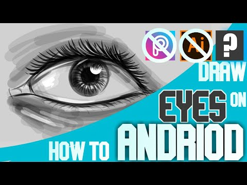 DRAW EYES ON ANDRIOD/IPHONE   DRAWING TUTORIAL ON SMART PHONE  DRAW ON ANY PHONE