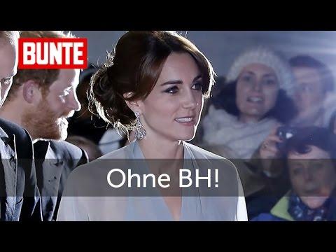Herzogin Kate  - Ohne BH zur Filmpremiere! - BUNTE TV
