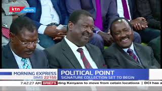Political Point: Raila  Odinga shuts door on BBI Negotiations; signature collection set to begin